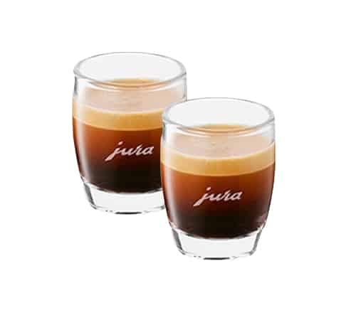 set de 2 verres expresso logo jura br lerie pau 39 s caf. Black Bedroom Furniture Sets. Home Design Ideas
